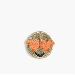 🆕 J. Crew Kids iron-on Critter Patch Emoji Face